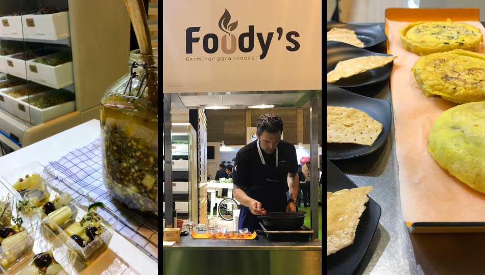 Cocinando germinados de Foodys en Fruit Attraction 2018 debure asesoria gastronomica